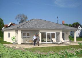 zeitloser Bungalow mit überdachter Terrasse