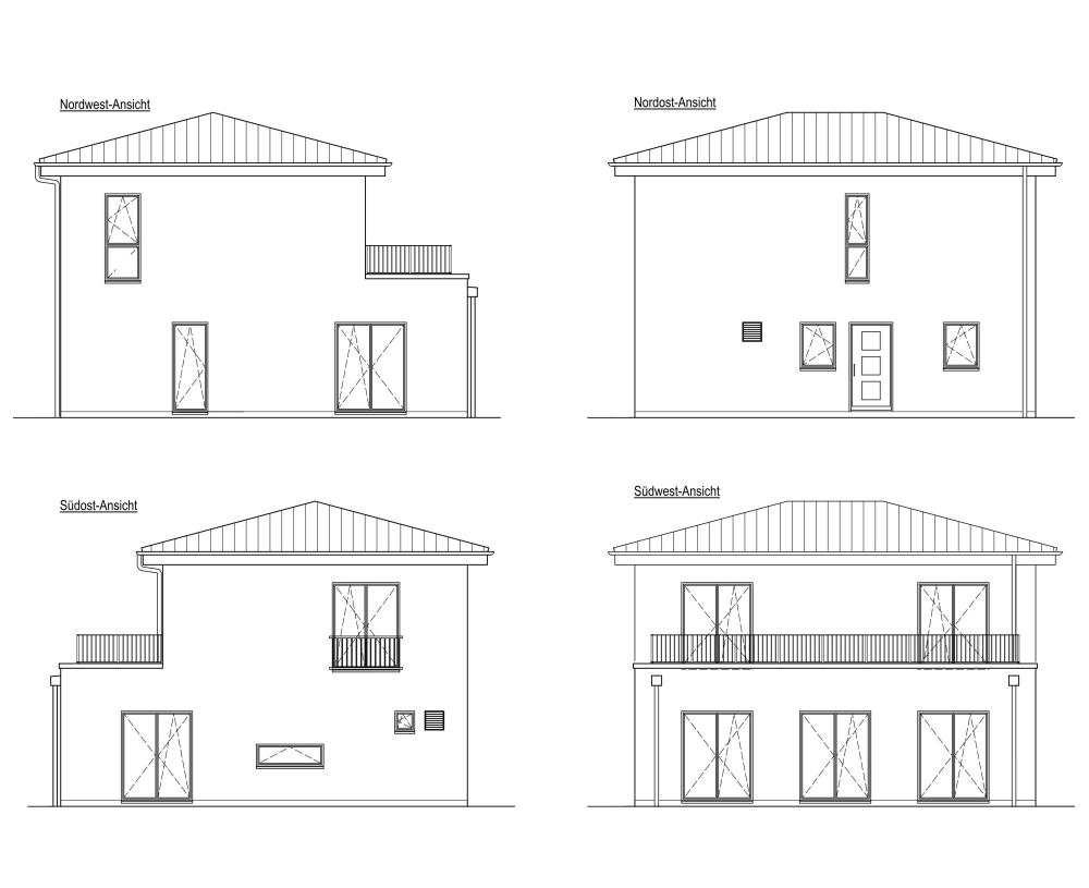 Hamburg - Bergstedt, Neubau eines Einfamilienhauses mit zwei Vollgeschossen